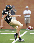 2 September 2006: Wake Forest punter Sam Swank. Wake Forest defeated Syracuse 20-10 at Groves Stadium in Winston-Salem, North Carolina in an NCAA college football game.