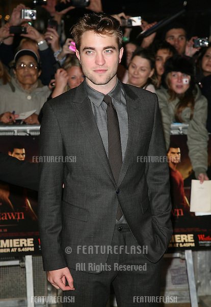 Robert Pattinson arriving for the UK premiere of The Twilight Saga: Breaking Dawn Part 1 at Westfield Stratford City, London. 17/11/2011 Picture by: Alexandra Glen / Featureflash