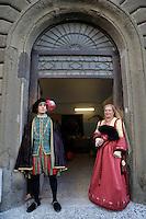 Paliano.Palianesi in abito storico.
