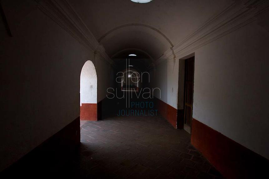 A hallway in Iglesia La Merced in Antigua, Guatemala on Thursday, March 15, 2007.
