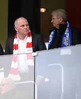 Fussball  1. Bundesliga  Saison 2013/2014   11. Spieltag  in Sinzheim TSG 1899 Hoffenheim - FC Bayern Muenchen    02.11.2013 Präsident Uli Hoeness (li, FC Bayern Muenchen) und TSG 1899 Hoffenheim Maezen Dietmar Hopp (re)