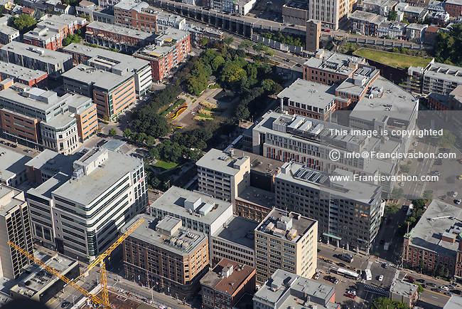Quebec city district of St. Roch is pictured in this aerial photo in Quebec city Thursday September 3, 2015.