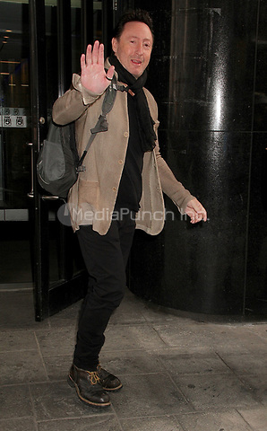 NEW YORK, NY - APRIL 13:  Julian Lennon, son of the late singer John Lennon, spotted leaving 'Good Day New York' where he talked about his book 'Touch the Work' and possibly collaborating with his half-brother Sean in New York, New York on April 13, 2017.  Photo Credit: Rainmaker Photo/MediaPunch
