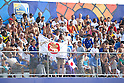 Japan Supporters, SEPTEMBER 02, 2011 - Beach Soccer : FIFA Beach Soccer World Cup Ravenna-Italy 2011 Group D match between Japan 2-3 Mexico at Stadio del Mare, Marina di Ravenna, Italy, (Photo by Enrico Calderoni/AFLO SPORT) [0391]