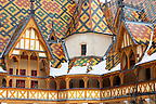 Hospice De Beaune in the snow