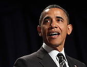 United States President Barack Obama speaks at the National Prayer Breakfast in Washington, DC, February 2, 2012. .Credit: Chris Kleponis / Pool via CNP