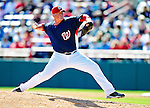 6 March 2010: Washington Nationals' pitcher Tyler Walker in action during a Spring Training game against the New York Mets at Space Coast Stadium in Viera, Florida. The Mets defeated the Nationals 14-6 in Grapefruit League action. Mandatory Credit: Ed Wolfstein Photo
