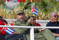 Photo file / Cuban President Raul Castro is seen in May Day, 2005 in Havana, Cuba. . Credit: Jorge Rey/MediaPunch