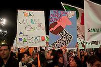 Roma  5  Novembre 2011.Manifestazione Nazionale del Partito Democratico  contro il Governo Berlusconi. .Demonstration  by the Italian main opposition Democratic Party (PD) against Italian prime minister Silvio Berlusconi's government.