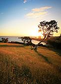 Coucher de soleil sur le Ouen Toro et l'Anse Vata