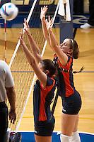 SAN ANTONIO, TX - AUGUST 29, 2006: The Southern Methodist University Mustangs vs. The University of Texas at San Antonio Roadrunners Volleyball at the UTSA Convocation Center. (Photo by Jeff Huehn)