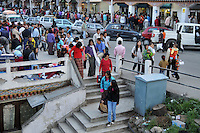 Crowd at Thimpu market. Arindam Mukherjee..