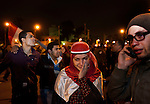 An Egyptian girl cries tears of joy the district of Heliopolis upon hearing the news that Egyptian President Hosni Mubarak had stepped down February 11, 2011 following momentous marches on the public buildings across Cairo, Egypt. (Photo by Scott Nelson)