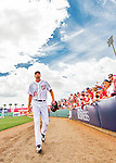 13 March 2016: Washington Nationals pitcher Max Scherzer walks to the dugout prior to a pre-season Spring Training game against the St. Louis Cardinals at Space Coast Stadium in Viera, Florida. The teams played to a 4-4 draw in Grapefruit League play. Mandatory Credit: Ed Wolfstein Photo *** RAW (NEF) Image File Available ***