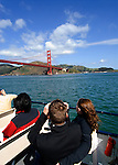 California, San Francisco: Excursion boat patrons on San Francisco Bay..Photo #: 15-casanf78235.Photo © Lee Foster 2008
