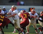 Lafayette High's Morgan Klepzig (71) vs. Laurel in the MHSAA Class 4A championship game at Mississippi Veterans Memorial Stadium in Jackson, Miss. on Saturday, December 3, 2011. Lafayette won 39-29, the team's 32 straight win, to capture their second consecutive state championship.