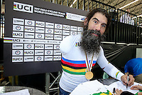 Picture by Alex Whitehead/SWpix.com - 02/03/2017 - Cycling - UCI Para-cycling Track World Championships - Velo Sports Center, Los Angeles, USA - Men's C3 1 km Time Trial Final. Gold - USA's BERENYI Joseph.<br />