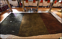 Huge captured Tricolour from Napoleonic French warship.
