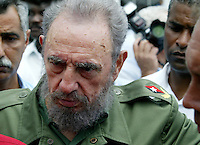 Cuban President Fidel Castro is seen at May Day, Havana, Cuba on May 17, 2005. . Credit: Jorge Rey/MediaPunch