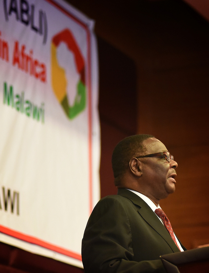 ABLI FORUM 2015. LILONGWE, MALAWI. DAY ONE. MALAWI STATE PRESIDENT, HIS EXCELLENCY, PRESIDENT ARTHUR PETER MUTHARIKA15/9/2015. PHOTO BY CLARE KENDALL.
