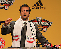 A.J. Soares at the 2011 MLS Superdraft, in Baltimore, Maryland on January 13, 2010.