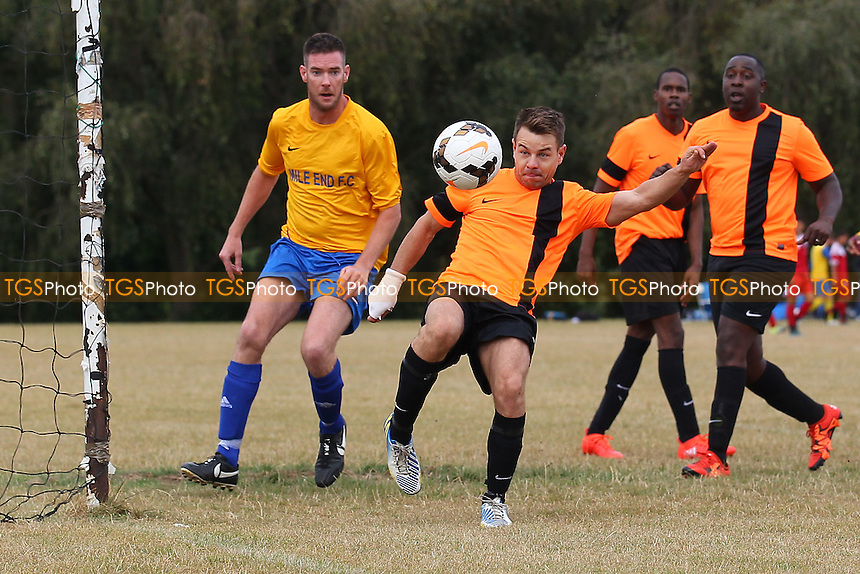 Mile End (yellow/blue) vs El Valiente, Hackney & Leyton Sunday League Football at Hackney Marshes on 4th September 2016