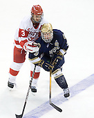 Kevin Shattenkirk (BU - 3), Ryan Thang (Notre Dame - 9) - The University of Notre Dame Fighting Irish defeated the Boston University Terriers 3-0 on Tuesday, October 20, 2009, at Agganis Arena in Boston, Massachusetts.