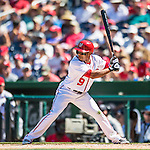 28 August 2016: Washington Nationals outfielder Ben Revere in action against the Colorado Rockies at Nationals Park in Washington, DC. The Rockies defeated the Nationals 5-3 to take the rubber match of their 3-game series. Mandatory Credit: Ed Wolfstein Photo *** RAW (NEF) Image File Available ***