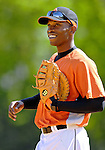 21 May 2007: Baltimore Orioles outfielder Freddie Bynum in action as a first baseman against the Toronto Blue Jays at Doubleday Field during Baseball's Annual Hall of Fame Game in Cooperstown, NY. The Orioles defeated the Blue Jays 13-7 in front of a sellout crowd of 9,791 at the historical ballpark...Mandatory Credit: Ed Wolfstein Photo