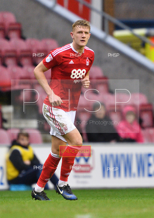 25/02/2017 Sky Bet Championship Wigan Athletic v Nottingham Forest<br /> <br /> Joe Worrall, Nottingham Forest FC