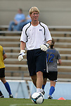 28 August 2009: Duke assistant coach Michael Crane. The Duke University Blue Devils lost 1-0 to the University of North Carolina Greensboro Spartans at Fetzer Field in Chapel Hill, North Carolina in an NCAA Division I Women's college soccer game.