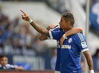 FUSSBALL   1. BUNDESLIGA   SAISON 2013/2014   8. SPIELTAG FC Schalke 04 - FC Augsburg                                05.10.2013 Kevin-Prince Boateng (FC Schalke 04) bejubelt sein Tor zum 1:1