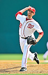 4 March 2012: Washington Nationals pitcher Ryan Mattheus on the mound against the Houston Astros at Space Coast Stadium in Viera, Florida. The Astros defeated the Nationals 10-2 in Grapefruit League action. Mandatory Credit: Ed Wolfstein Photo