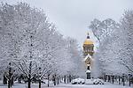 1.5.14 Main Quad Snow 2.JPG by Matt Cashore/University of Notre