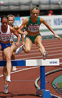 Roisin McGettigan of Ireland ran 9:39.41sec in her heat of the 3000m steeplechase at the 11th. IAAF World Championships on Saturday, August 25, 2007. Photo by Errol Anderson,The Sporting Image.Assorted images of the 11th. World  Track and Field Championships held in Osaka, Japan.