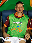 Calcio, Serie A: Roma-Catania. Roma, stadio Olimpico, 26 agosto 2012..AS Roma midfielder Alessandro Florenzi sits on the bench prior to the start of the Italian Serie A football match between AS Roma and Catania, at Rome, Olympic stadium, 26 August 2012. .UPDATE IMAGES PRESS/Riccardo De Luca