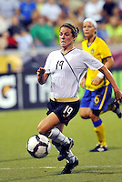 Kelly O'Hara...USWNT tied Sweden 1-1 at Morrison Stadium, Omaha Nebraska.