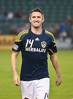 CARSON, CA - September 17, 2011: LA Galaxy forward Robbie Keane (14) before the match between LA Galaxy and Vancouver Whitecaps at the Home Depot Center in Carson, California. Final score LA Galaxy 3, Vancouver Whitecaps 0.