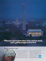American Express, Washington DC, Receipts