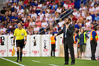 DC United head coach Ben Olsen. The New York Red Bulls defeated DC United 3-2 during a Major League Soccer (MLS) match at Red Bull Arena in Harrison, NJ, on June 24, 2012.
