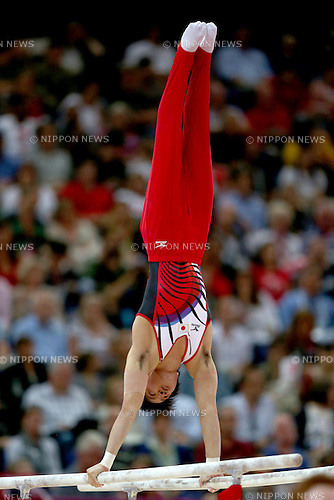 Yusuke Tanaka (JPN), .JULY 30, 2012 - Artistic Gymnastics : .Men's team final .Parallel Bars  .at North Greenwich Arena .during the London 2012 Olympic Games in London, UK. .(Photo by Koji Aoki/AFLO SPORT)