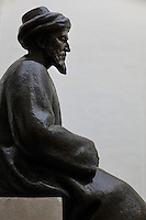 Statue of Moses ben Maimon, known as Maimonides, 1135-1204, Jewish scholar, philosopher and physician, in the Jewish Quarter of Cordoba, Andalusia, Southern Spain. Maimonides was forced to flee with his family to Fez aged 23 to escape religious persecution by fanatical Almohads in al-Andalus. The historic centre of Cordoba is listed as a UNESCO World Heritage Site. Picture by Manuel Cohen