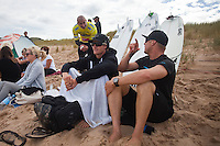JOHANNA BEACH, Victoria/Australia (Friday, April 9, 2010) - Kelly Slater (USA), 38, former nine-time ASP World Champion, has claimed his fourth Rip Curl Pro Bells Bell  over reigning two-time ASP World Champion Mick Fanning (AUS), 28, in clean three-to-four foot (1 metre) waves at the backup venue of Johanna Beach..The second stop on the 2010 ASP World Tour, the Rip Curl Pro Bells Beach was completed over four different venues this year, with Round 1 at Bells Beach, Round 2 at Thirteenth Beach, Round 3 and the opening half of Round 4 at Winki Pop before the final day was completed at Johanna Beach..Following a relatively slow start to the highly-anticipated final, Fanning unleashed with a 7.17 to take the lead. The lightning-fast Australian strung together a series of high-speed manoeuvres to pull ahead and put the Floridian on the ropes..However, Slater answered back with an incredible Alley-oop aerial manoeuvre, boosting so high his feet separated from his board before he recovered for an 8.93. Slater then paddled into another excellent wave, scoring an 8.10 to bring his total to 17.03 out of a possible 20 - a lead that Fanning would not surpass.. Bobby Martinez (USA), 28, was one of the form surfers at Johanna Beach, opting to surf the lefthanders down the beach with unparalleled style and aggression, linking razor-sharp turns with massive aerials to best 2010 ASP Dream Tour rookie Jadson Andre (BRA), 20, and defending Rip Curl Pro Bells winner Joel Parkinson (AUS), 28, before falling to Slater in the Semifinals..Taj Burrow (AUS), 31, has been near unstoppable since December, making the Finals in his previous four events (collecting three victories), before falling short against Fanning in today's Semifinals. Despite the loss, Burrow's Equal 3rd sees him retain his position as ASP World No. 1.. Photo: joliphotos.com