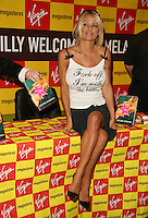 Pamela Anderson signs her new book at Virgin Megastore at Picadilly in London.