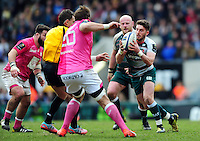 Owen Williams of Leicester Tigers in possession. European Rugby Champions Cup quarter final, between Leicester Tigers and Stade Francais on April 10, 2016 at Welford Road in Leicester, England. Photo by: Patrick Khachfe / JMP