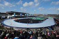 SCHAATSEN: AMSTERDAM: Olympisch Stadion, 02-03-2014, KPN NK Sprint/Allround, Coolste Baan van Nederland, overzicht, ©foto Martin de Jong