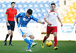 St Johnstone v Stranraer...01.11.15   Little Big Shot Youth Cup 3rd Round, McDiarmid Park, Perth<br /> George Hunter puts saints 1-0 up<br /> Picture by Graeme Hart.<br /> Copyright Perthshire Picture Agency<br /> Tel: 01738 623350  Mobile: 07990 594431