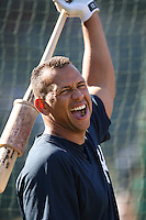 OAKLAND, CA - JUNE 11:  Alex Rodriguez of the New York Yankees takes batting practice before the game against the Oakland Athletics at the McAfee Coliseum in Oakland, California on June 11, 2008.  The Athletics defeated the Yankees 8-4.  Photo by Brad Mangin