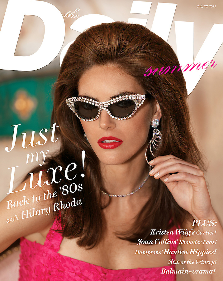Model Hilary Rhoda for the cover story of The Daily Summer magazine. July 24th edition 2013.
