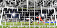 Orlando, FL - Saturday Jan. 21, 2017: Corinthians goalkeeper Cassio Ramos (12) watches the shot go high of the goal during the second half of the Florida Cup Championship match between São Paulo and Corinthians at Bright House Networks Stadium. The game ended 0-0 in regulation with São Paulo defeating Corinthians 4-3 on penalty kicks